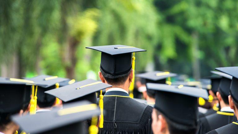 Graduate with yellow tassel