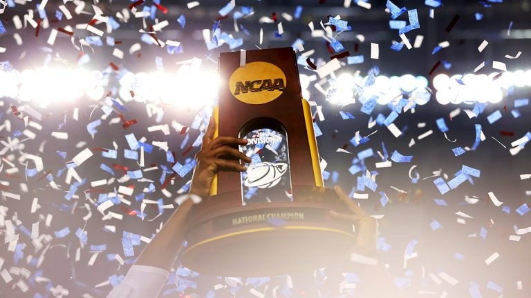 NCAA Men's basketball championship trophy