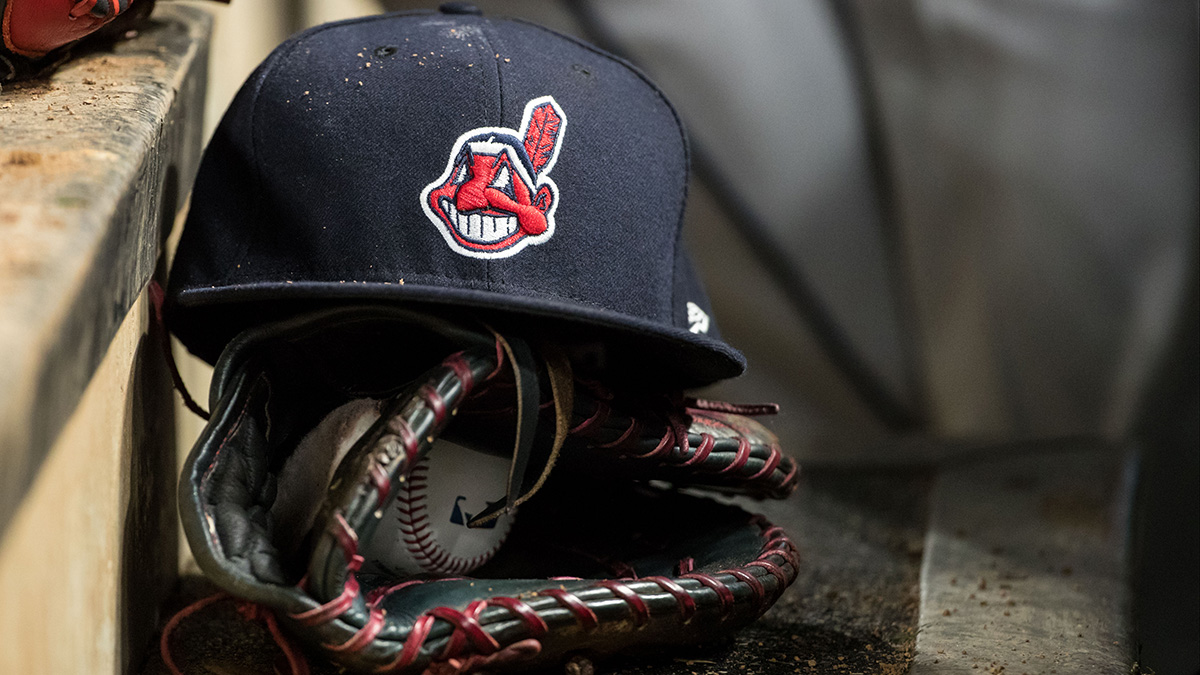 a234c132cd581 A Cleveland Indians hat with Chief Wahoo. The Indians will no longer have  the logo on their uniforms beginning this season.