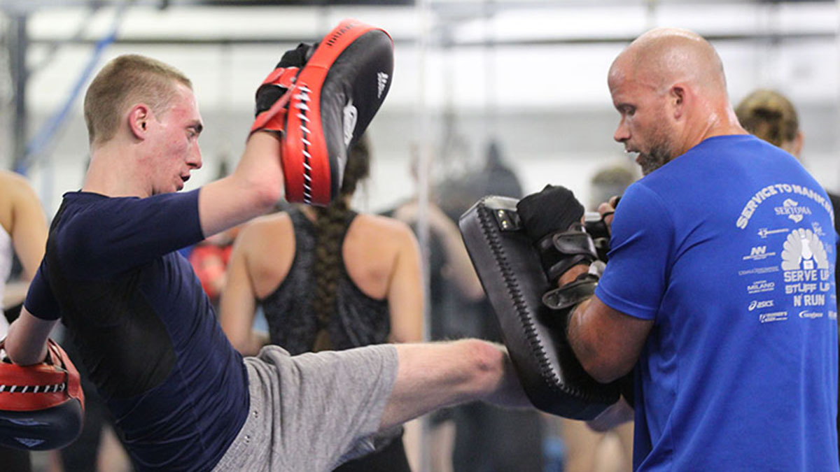Mixed Martial Arts competitor Kyle Stewart practicing at Arizona Combat Sports in Tempe