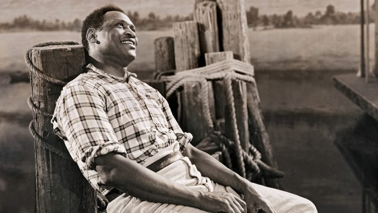 Former Rutgers football star and civil rights activist Paul Robeson