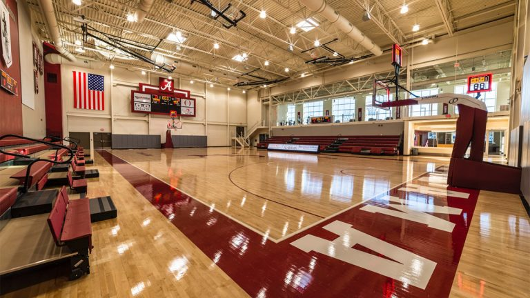 Adaptive athletic court at the University of Alabama