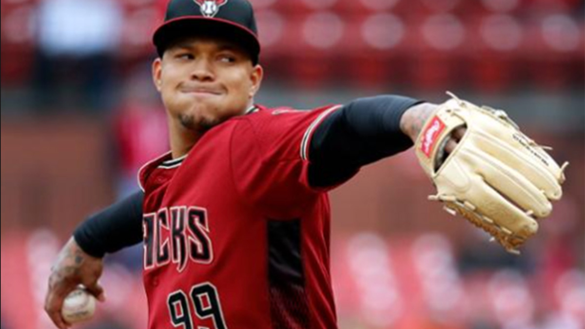 Taijuan Walker pitching for Arizona Diamondbacks