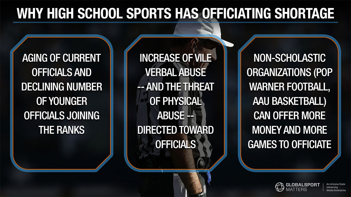 Why high school sports has an officiating shortage