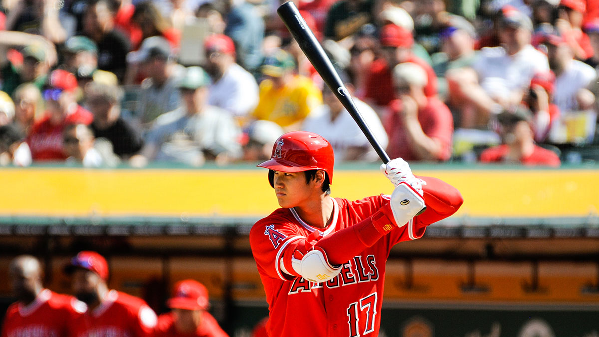 Los Angeles Angels hitter Shohei Ohtani on opening day