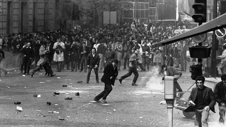 Protestors in Paris, 1968