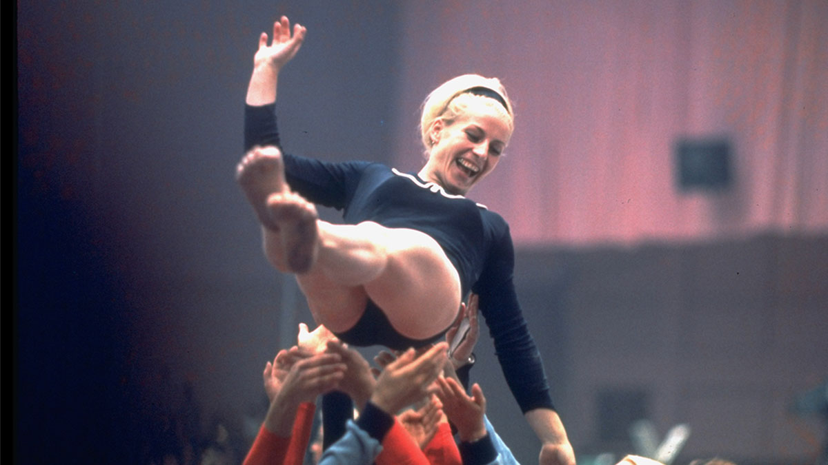 Czech gymnast Vera Caslavska, 1968 Olympics