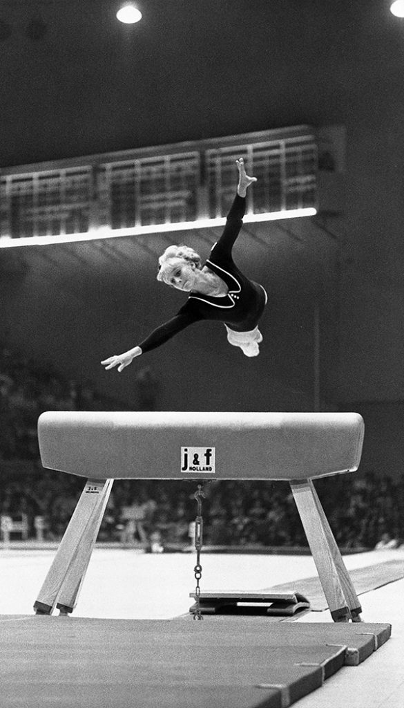 Gymnast Vera Caslavska's silent protest spoke volumes