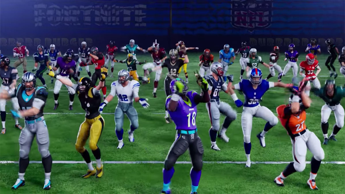 gamers create crude re enactments with fortnite s nfl skins - juju fortnite skin