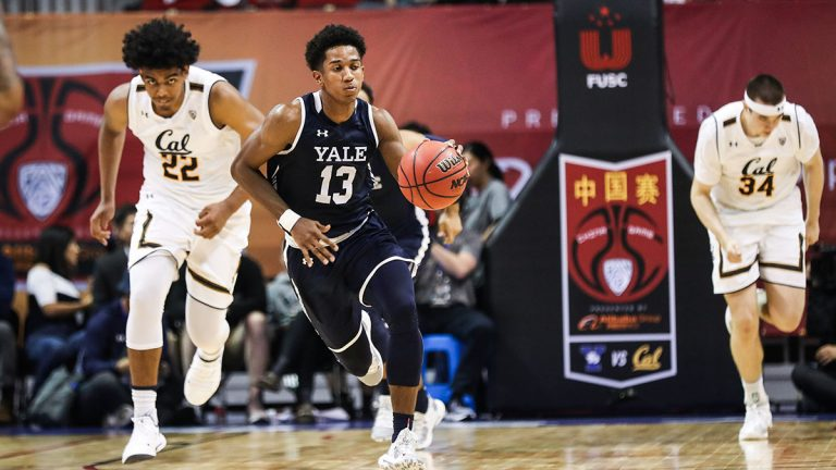Yale, Trey Phills, China, basketball
