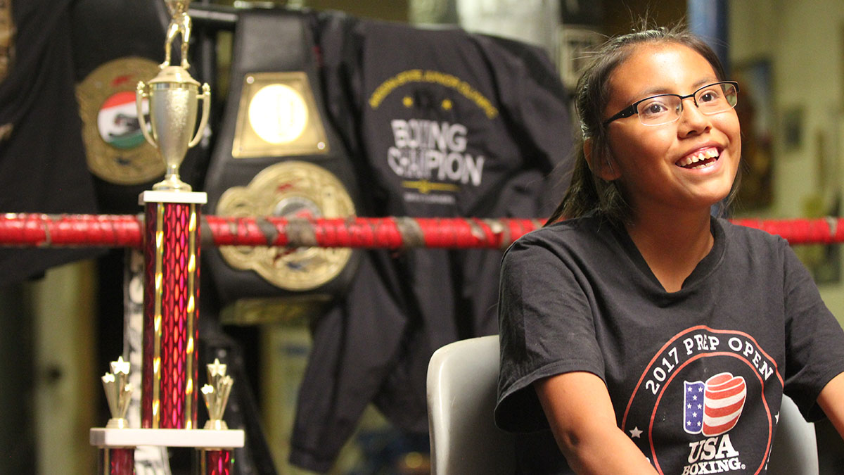 Pulling no punches: 14-year-old girl aspires to be first Navajo boxer to win Olympics