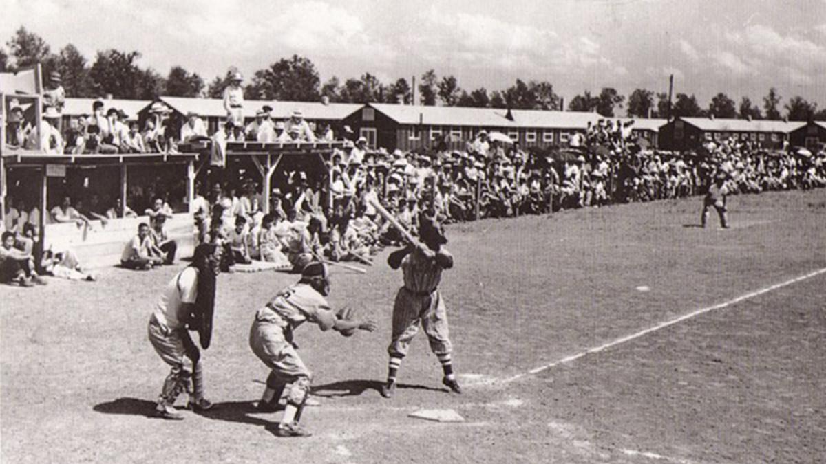 baseball, internment camps,