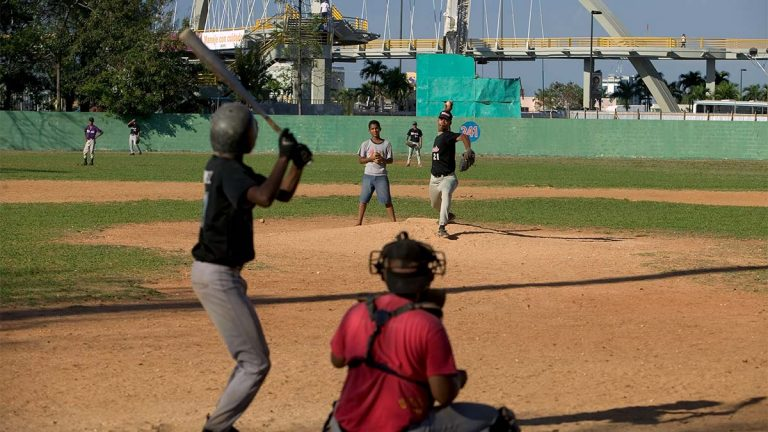 A baseball game in the Dominican Republic