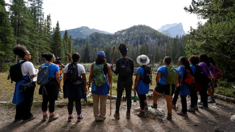 GirlTrek, Rocky Mountain National park, Stress Protest