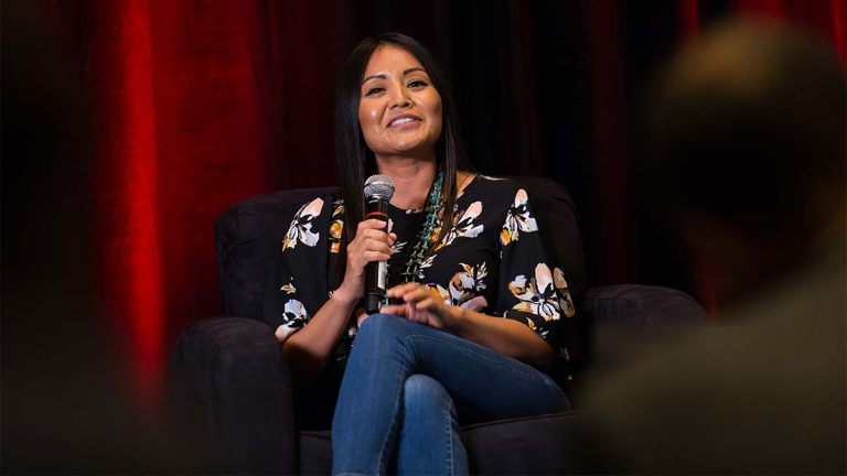 Amanda Blackhorse, Native American activist, Global Sport Summit 2019