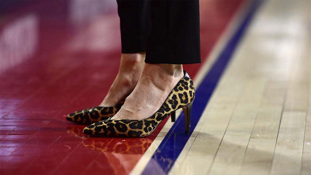 Women coaches, high heels