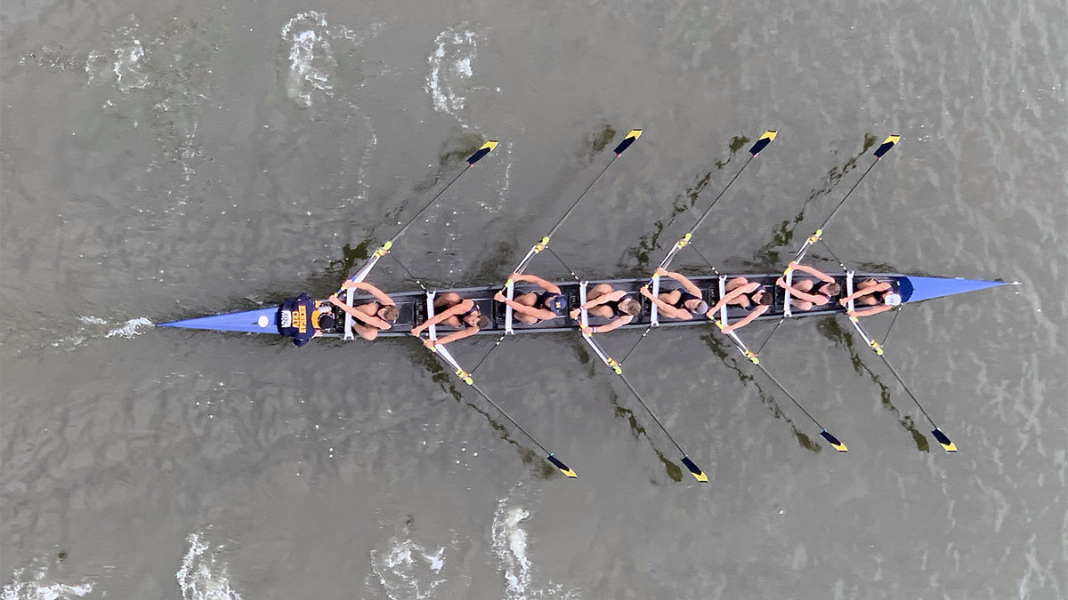 Michigan men's 8, rowing