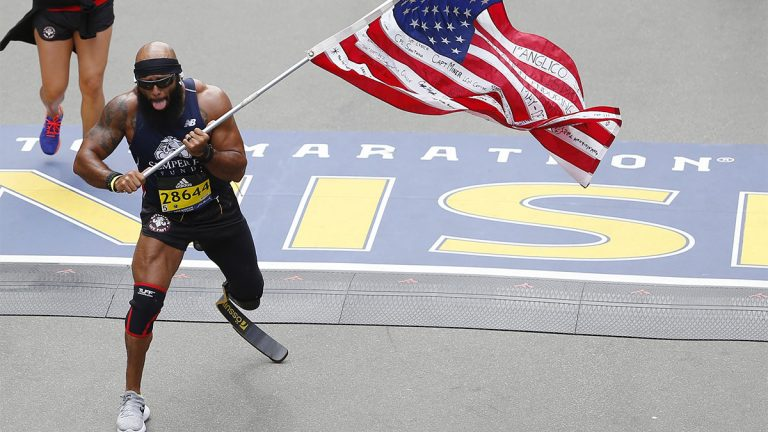 Boston Marathon, para athlete