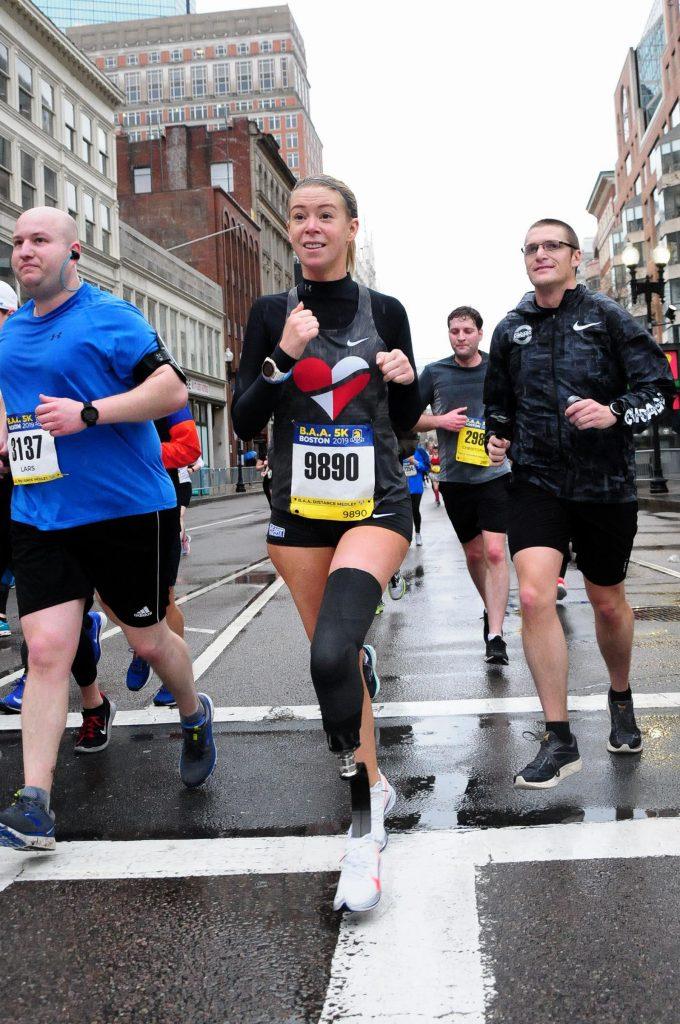 Adrianne Haslet, Boston Marathon