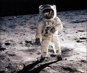 Buzz Aldrin, moon,