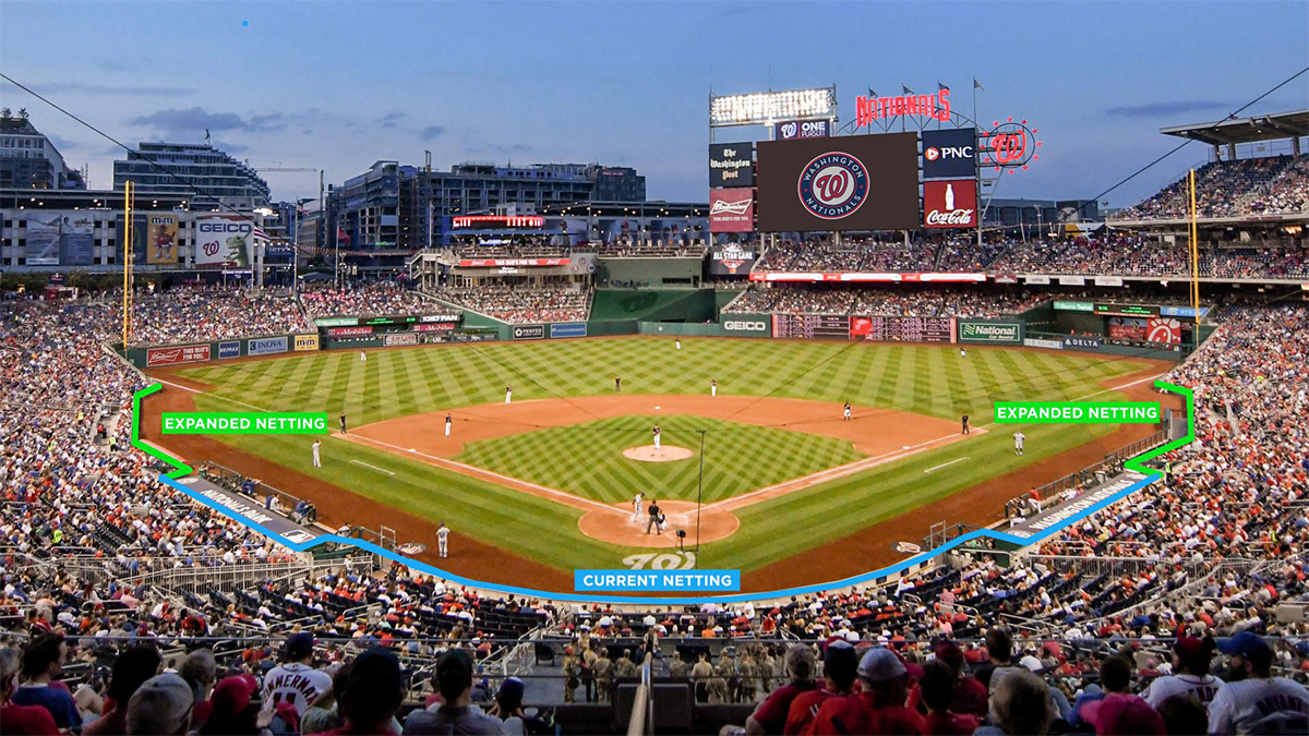 Washington Nationals, netting