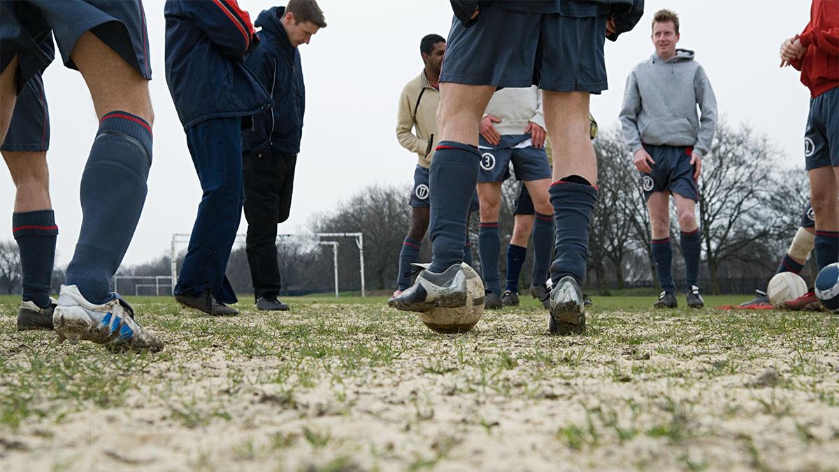 Teamwork, soccer,