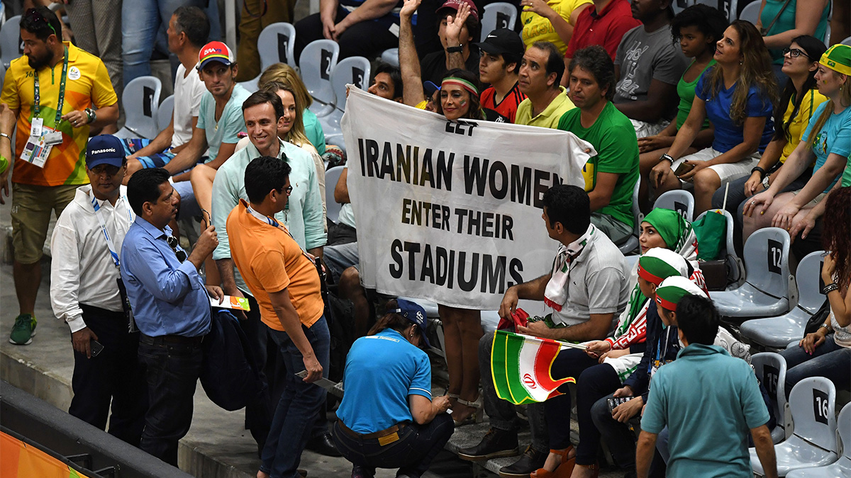 Iranian protests, soccer, #bluegirl, Olympics