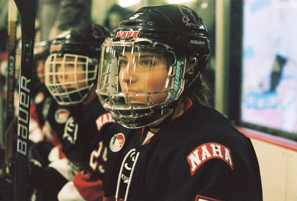 Kiki Roust plays for the North American Hockey Academy White in Stowe, Vermont, U.S. (Photo by Alana Paterson)