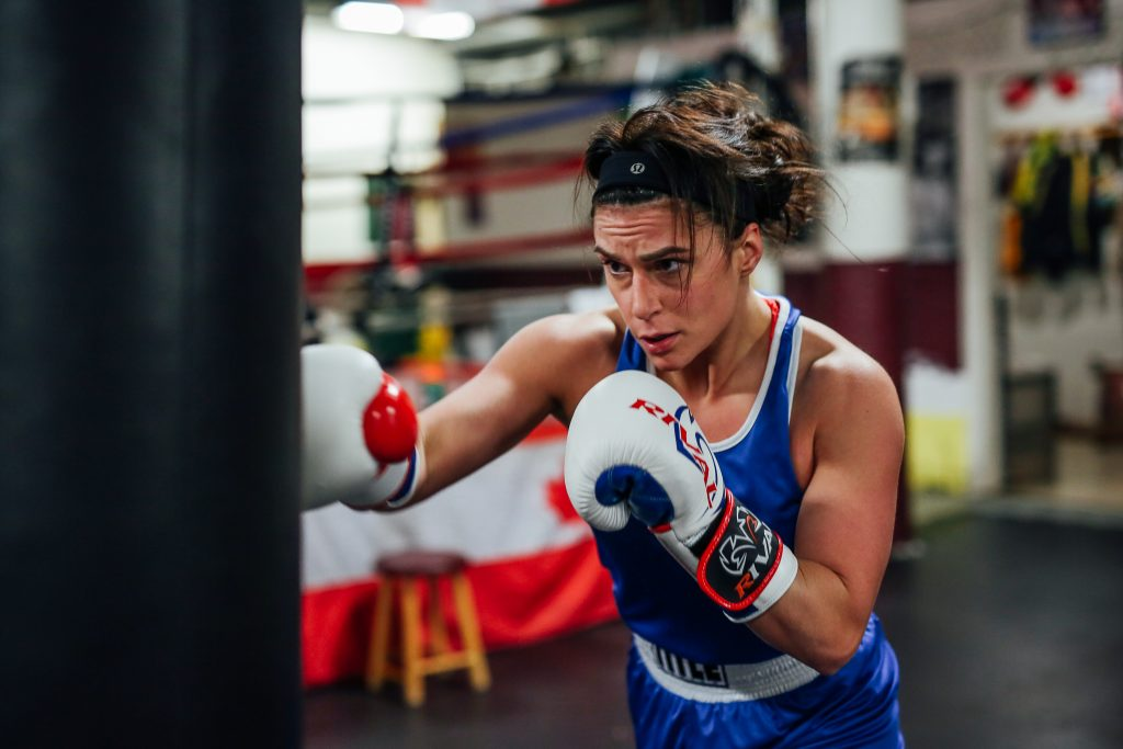 Cassie Watts trains at Warriors Boxing Gym in Dartmouth, Nova Scotia, Canada. (Photo by Lyndsay Doyle)