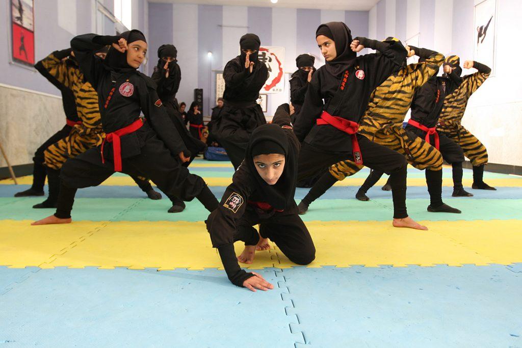 Iranian women training to be ninjas. (Photo by Maryam Majd)