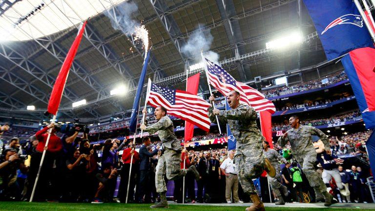 military, Super Bowl