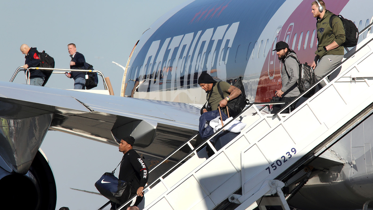 New England Patriots, airplane, travel, Super Bowl