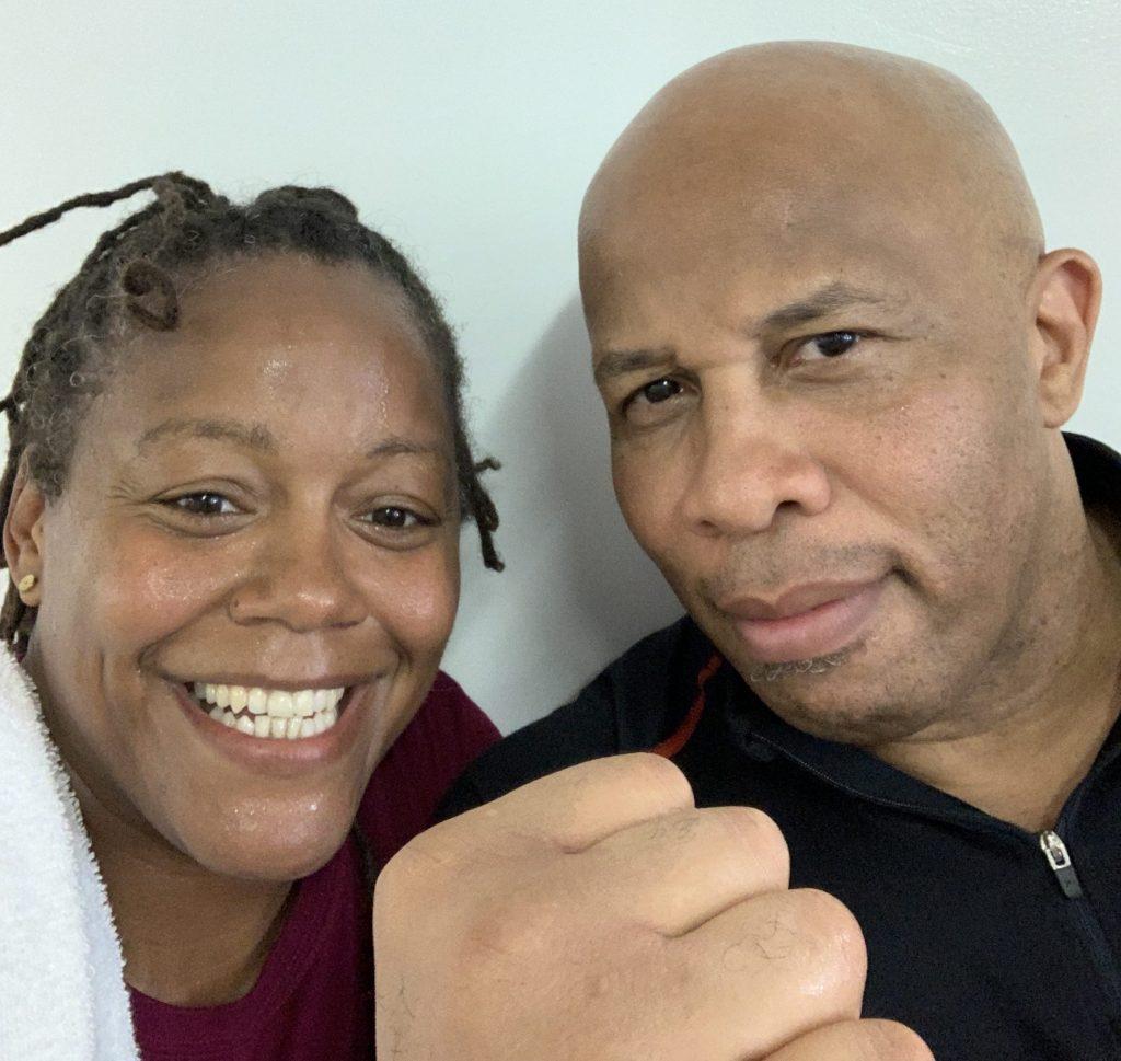 Phaidra Knight and her coach. (Photo courtesy Phaidra Knight)