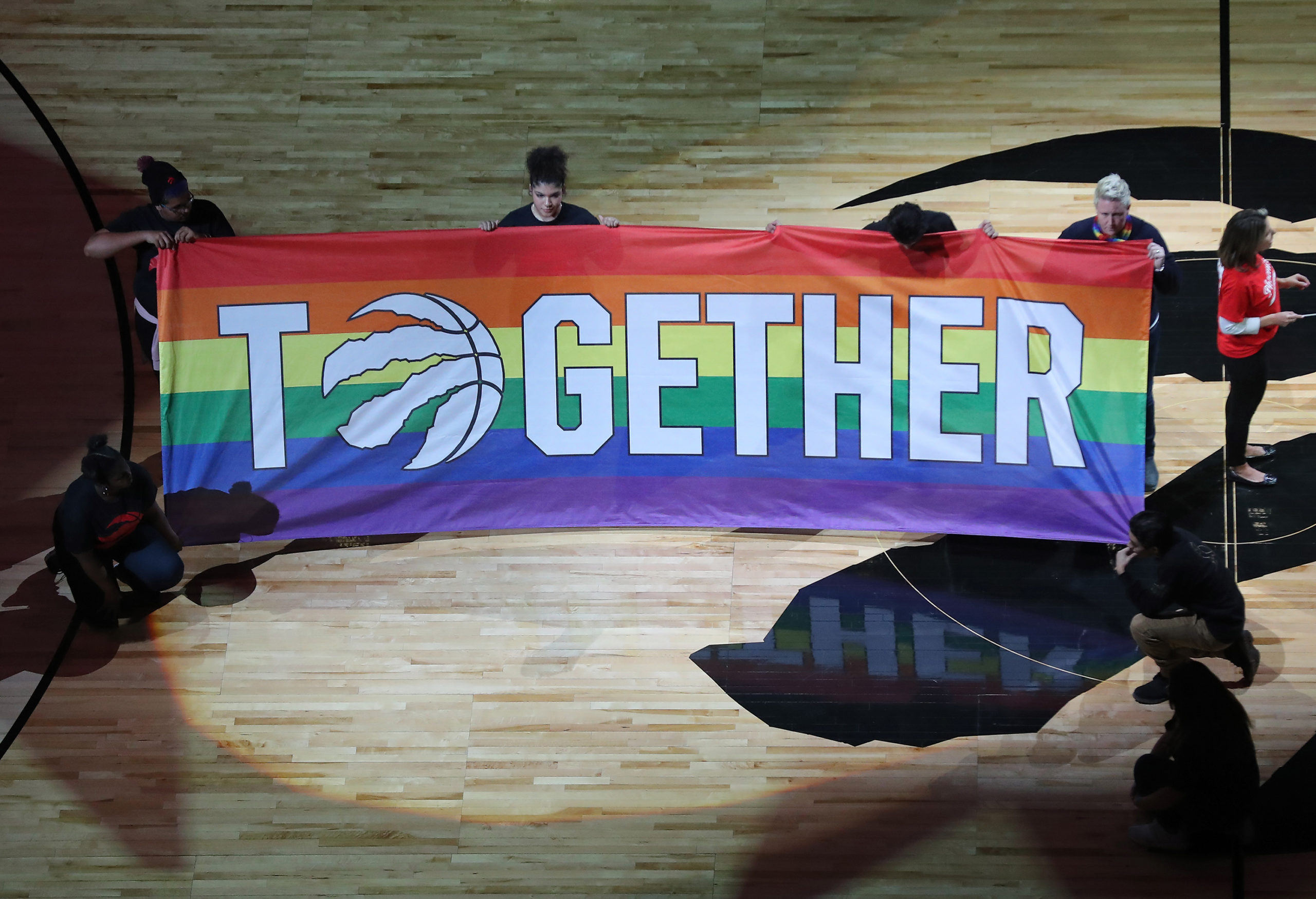Pride event at basketball game