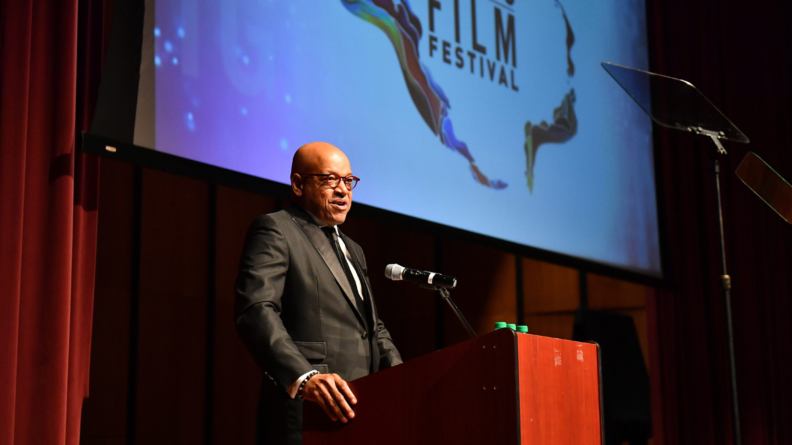 ATLANTA, GEORGIA - OCTOBER 12: Morehouse President Dr. David A. Thomas speaks onstage during 1st Annual Morehouse College Human Rights Film Festival Awards Ceremony at Ray Charles Performing Arts Center on October 12, 2019 in Atlanta, Georgia. (Photo by Paras Griffin/Getty Images)
