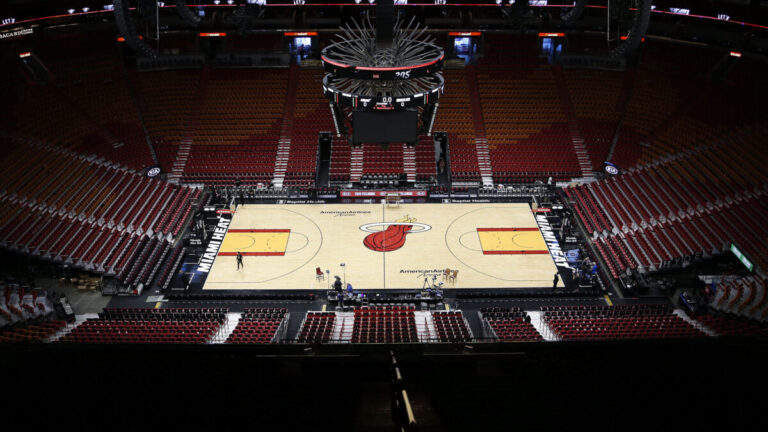 America Airlines Basketball Arena home to the Miami Heat.