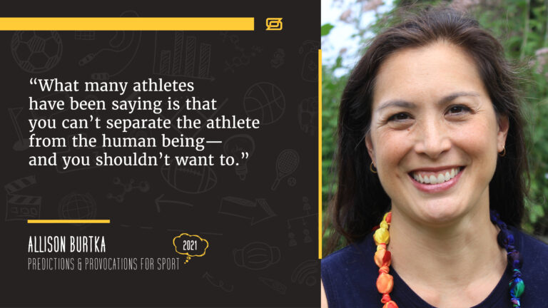 Allison Burtka quote about bringing awareness to treating athletes as human