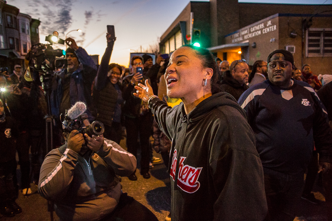 Dawn Staley Day at the Hank Gathers Recreation Center 12-21-2017 (Photo via PHL Council is licensed under CC BY-NC 2.0)