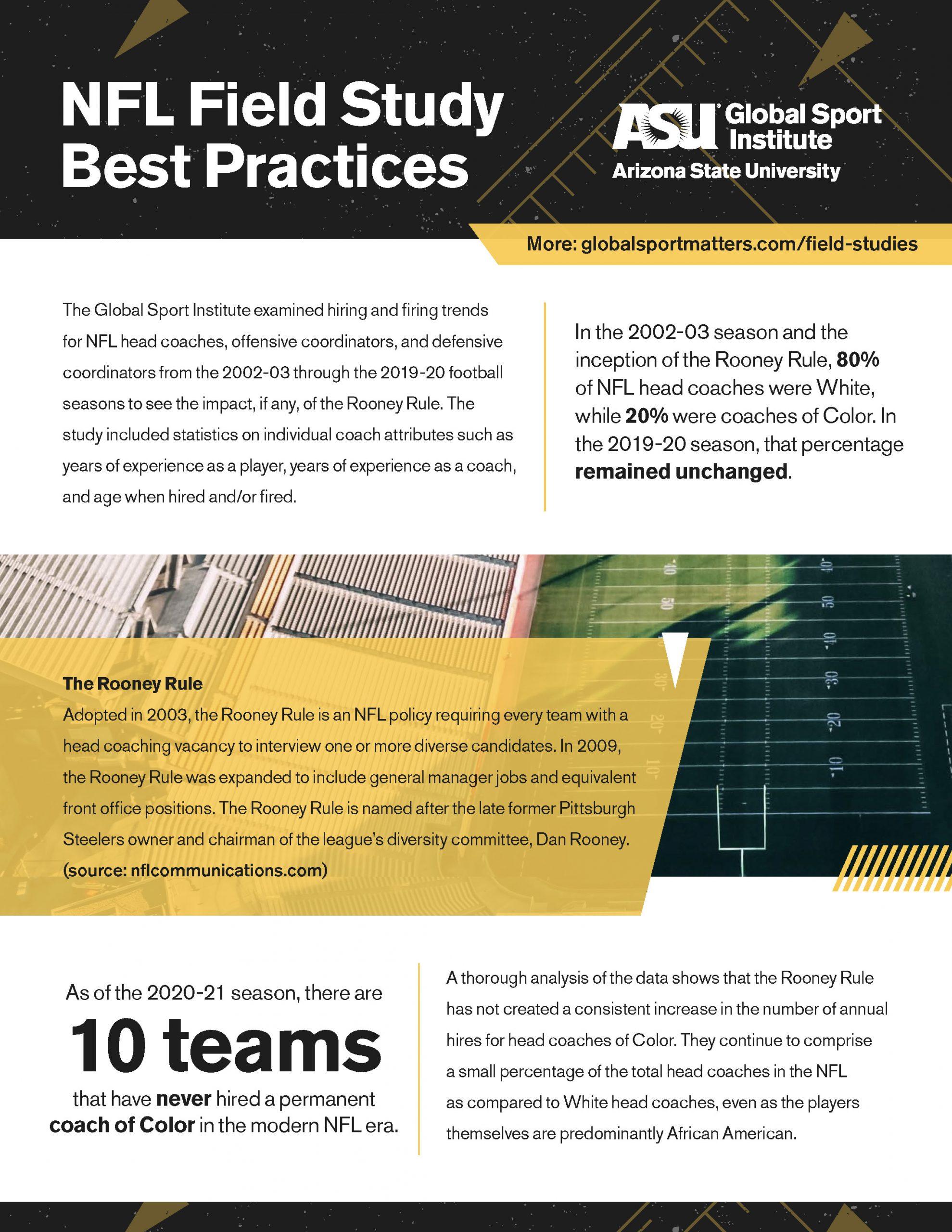 NFL Field Study Best Practices Document