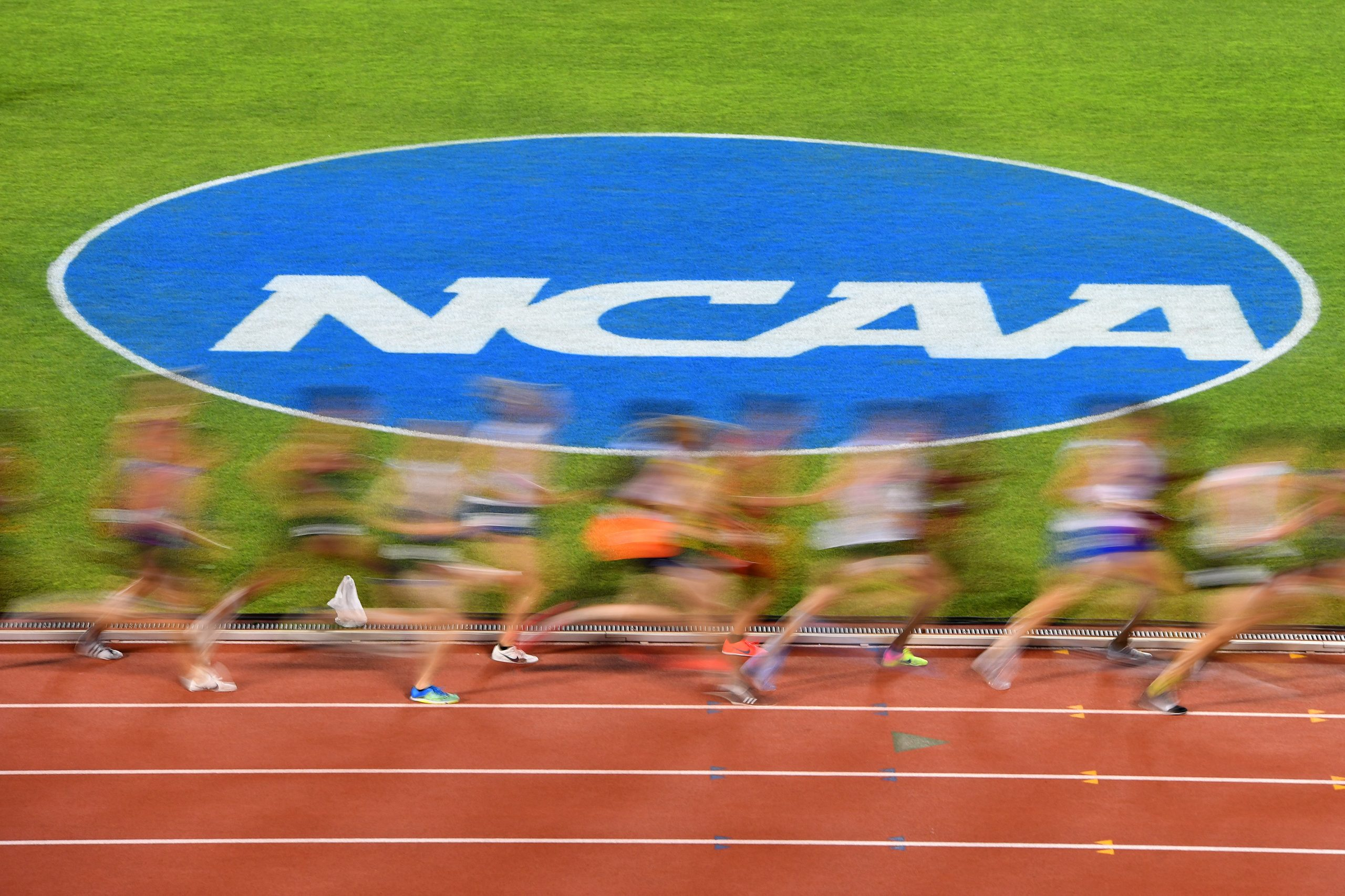 An NCAA track race