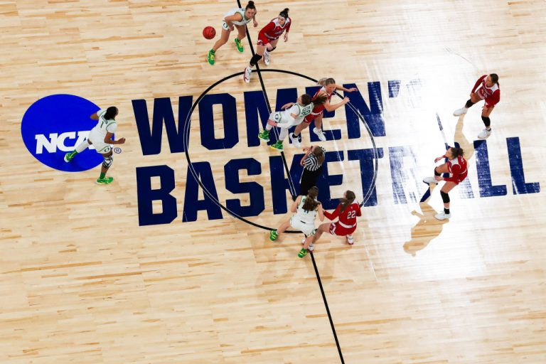 Tip off at the 2021 NCAA Women's Basketball Tournament